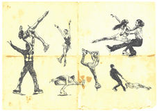 łyżwiarstwa figurowe sporta zima Fotografia Stock