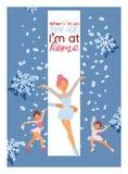 Łyżwiarstwa figurowe tła dziewczyny wektorowy charakter jeździć na łyżwach na turniejowej i fachowej girlie łyżwiarki ilustracji  obraz royalty free
