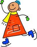łyżwiarstwo dzieciaka. Zdjęcie Stock