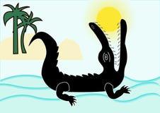 łykający krokodyla słońce Obraz Stock