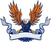 Łysy Eagle Nurkuje rozszerzanie się Uskrzydla ślimacznicę Retro Zdjęcia Stock