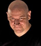 łysy głowiasty mężczyzna Zdjęcia Royalty Free