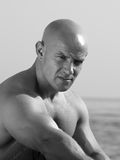 łysy mężczyzna Fotografia Royalty Free