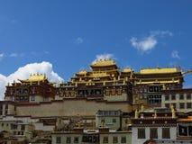 ¼ Œ Китай ŒYunnanï ¼ ŒShangri-laï ¼ monasteriesï ¼ Songzanlin Monasteryï šan старое тибетское Стоковые Изображения