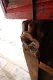 ¼ Œ de Œcomponentï do ¼ de ŒTangkaï do ¼ do ï de Œtemple do ¼ de Xizangï que cerca a madeira Imagens de Stock Royalty Free