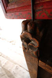 ¼ Œ di Œcomponentï del ¼ di ŒTangkaï del ¼ del ï di Œtemple del ¼ di Xizangï che recinta legname immagini stock libere da diritti