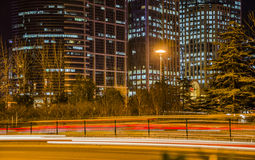 ¼ ŒBeijing de Trailsï da luz de Cars' Fotos de Stock Royalty Free