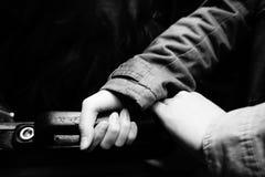 ¼ Œblack safetyï и белизна Стоковые Фотографии RF