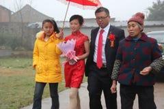 ¼ ŒGUANGXI, el casarse de Œchinaï del ¼ de Asiaï de las nacionalidades de minoría Foto de archivo