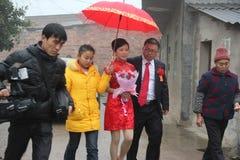 ¼ ŒGUANGXI, el casarse de Œchinaï del ¼ de Asiaï de las nacionalidades de minoría Fotos de archivo libres de regalías