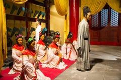 ¼ ŒHistorical de Palaceï de figure de cire de l'Asie Chine, du Pékin Minghuang et paysage culturel de Ming Dynasty en Chine Photographie stock libre de droits