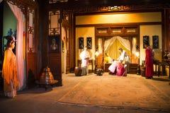 ¼ ŒHistorical de Palaceï de figure de cire de l'Asie Chine, du Pékin Minghuang et paysage culturel de Ming Dynasty en Chine Photo stock
