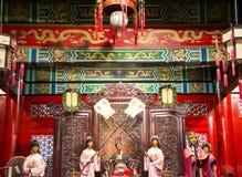 ¼ ŒHistorical de Palaceï de la figura de cera de Asia China, de Pekín Minghuang y paisaje cultural de Ming Dynasty en China Imagen de archivo libre de regalías