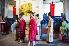 ¼ ŒHistorical de Palaceï de la figura de cera de Asia China, de Pekín Minghuang y paisaje cultural de Ming Dynasty en China Imagen de archivo