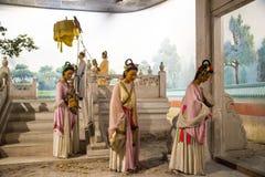 ¼ ŒHistorical de Palaceï de la figura de cera de Asia China, de Pekín Minghuang y paisaje cultural de Ming Dynasty en China Imágenes de archivo libres de regalías