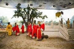 ¼ ŒHistorical de Palaceï de la figura de cera de Asia China, de Pekín Minghuang y paisaje cultural de Ming Dynasty en China Imagenes de archivo