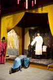 ¼ ŒHistorical de Palaceï de la figura de cera de Asia China, de Pekín Minghuang y paisaje cultural de Ming Dynasty en China Foto de archivo libre de regalías
