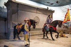 ¼ ŒHistorical de Palaceï de la figura de cera de Asia China, de Pekín Minghuang y paisaje cultural de Ming Dynasty en China Fotos de archivo libres de regalías
