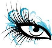 œil bleu illustration de vecteur