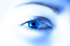 œil bleu image stock
