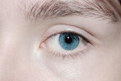 œil bleu Photos stock