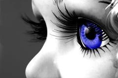 œil bleu photographie stock libre de droits