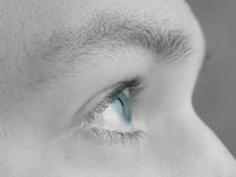 œil bleu d'espoir Photo libre de droits