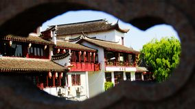 ŒShippo för gammal Streetï för Shanghaiï ¼ŒChinaï ¼ ŒTraditional ¼ forntida stad Arkivfoton