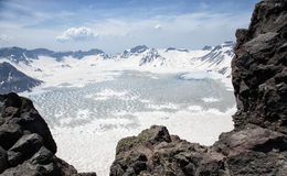 ¼ Œtianchi, montagna changbaishan di Volcanicï Immagini Stock Libere da Diritti