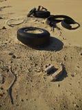 ściółki zanieczyszczenia guma zdjęcia stock