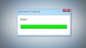 Ściąga postęp robić, dialog pudełko z zielonym statusu barem, przestarzały oprogramowanie Obraz Royalty Free