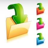ściągania falcówki ikona Fotografia Stock