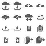 Ściągania & Upload ikony EPS10 wektor Ilustracja Wektor