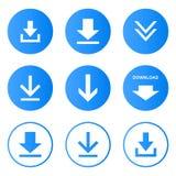 Ściąganie ikona ustawiający guziki wektorowi zdjęcie stock