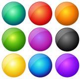 Ściąganie zapina wektorowych kolory eps zdjęcia stock