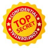 Ściśle tajny odznaka Obraz Stock