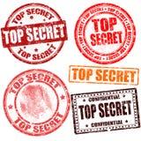 Ściśle tajny stemplowa kolekcja Zdjęcia Royalty Free