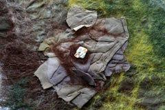 Ściśnięty brown jedwab z wełna matującymi kędziorkami Zdjęcie Stock