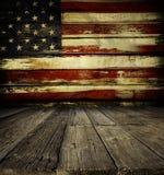 ściana amerykańskiej flagi Zdjęcie Stock