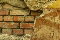 Ściana beton i cegła z tynk teksturą obraz royalty free