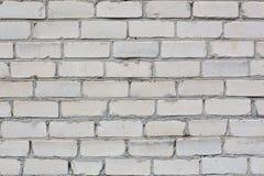 Ściana biały ceglany tło Obrazy Stock