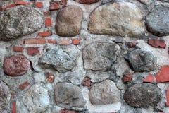 Ściana cegły i kamienie Zdjęcie Royalty Free