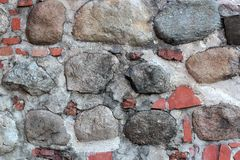 Ściana cegły i kamienie Obrazy Stock