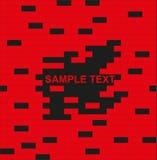 Ściana, czerwony i czarny, cegła - z miejscem dla teksta Zdjęcie Stock