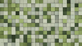 Ściana delikatni zieleni sześciany 3D odpłaca się Zdjęcia Stock