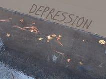 Ściana depresja - deszczowy dzień zdjęcie royalty free