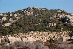 Ściana granitowe skały Fotografia Royalty Free