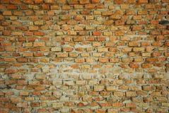 Ściana handmade z cegłami Zdjęcia Stock