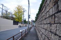 Ściana Higashi Honganji Świątynny Kyoto Japonia Obraz Stock