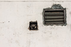Ściana i żaluzja zdjęcie stock